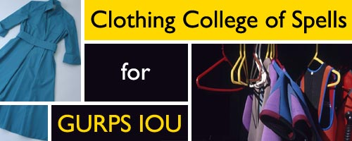 Clothing College of Spells for GURPS IOU