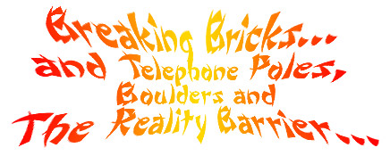 Breaking Bricks... and Telephone Poles, Boulders and the Reality Barrier