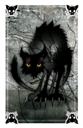 Spooks black cat card
