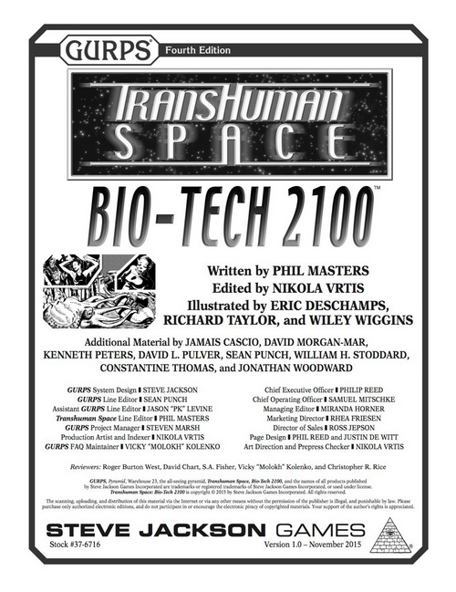 GURPS Transhuman Space: Bio-Tech 2100