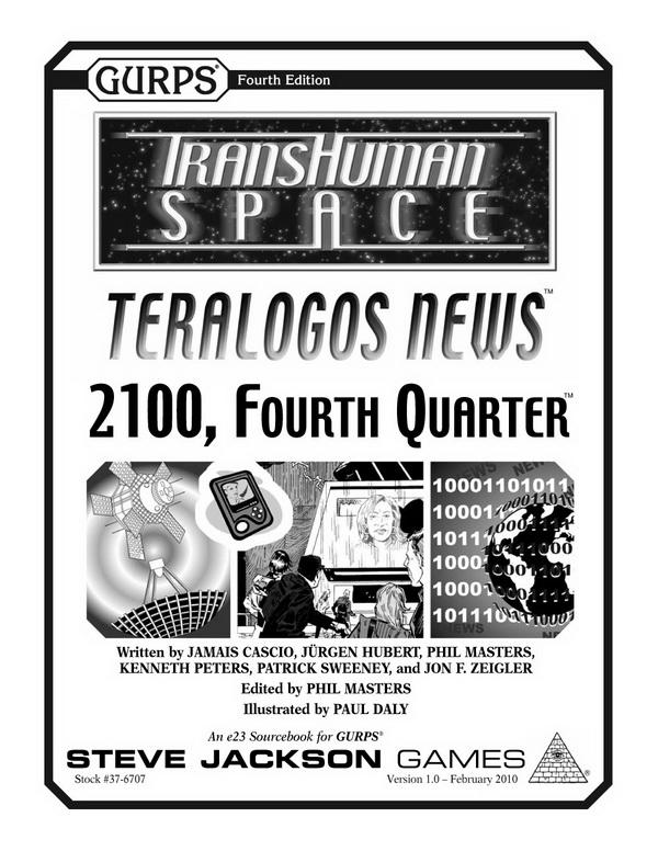 GURPS Transhuman Space: Teralogos News – 2100, Fourth Quarter