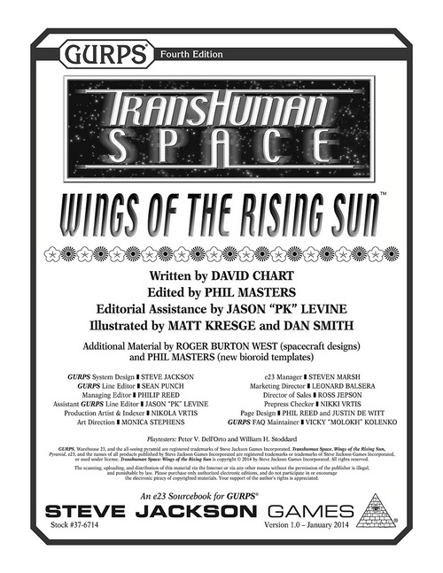 GURPS Transhuman Space: Wings of the Rising Sun