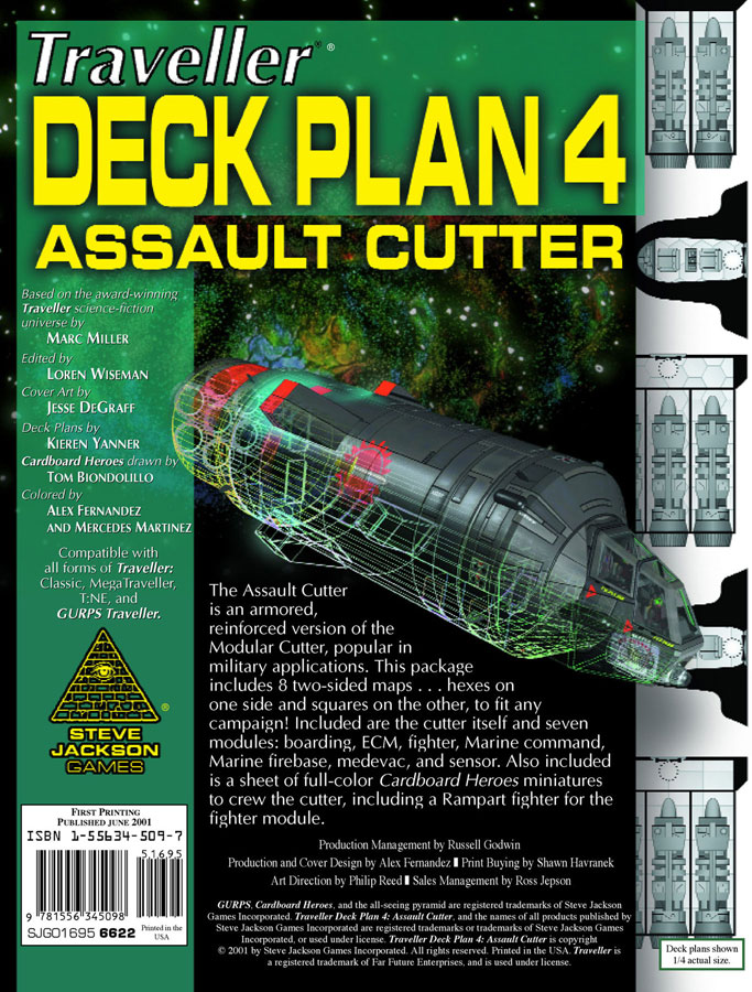 GURPS Traveller Deck Plan 4: Assault Cutter